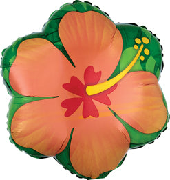 Orange Hibiscus Balloon, 17in