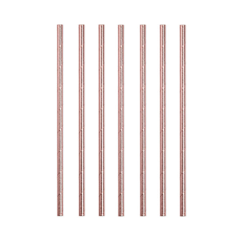 24 Rose Gold Straws