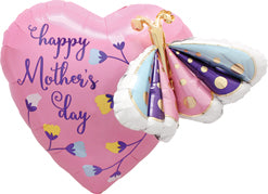 Mothers Day 24'' Butterfly & Heart MultiBalloon