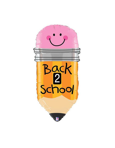BACK TO SCHOOL PENCIL FOIL MYLAR BALLOON