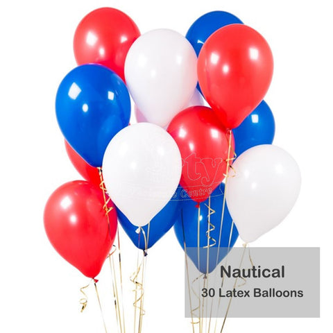 Striped Nautical Theme Latex Bouquet 30pc