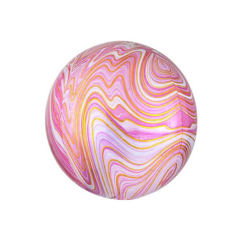 Pink and Red Marble Orbz