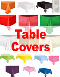Plastic Solid Rectangle 6ft Tablecover