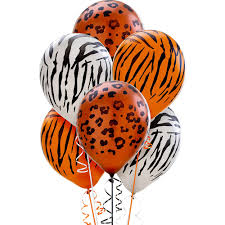 Animal Print Pearl Balloons 6ct, 12in