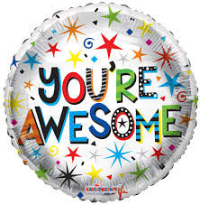 You're Awesome Balloon 18''