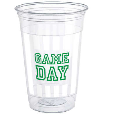 Game Day Football 16oz Plastic Party Cups 8ct