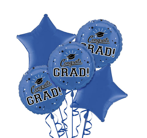 Congrats Grad Blue Bouquet 5pc