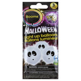 "Ghost Light Up Balloons 9"" 3ct"