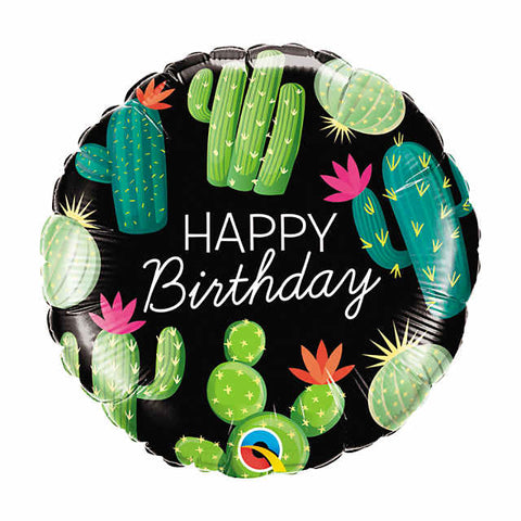 "Cactus Happy Birthday 18"" Mylar Balloon"