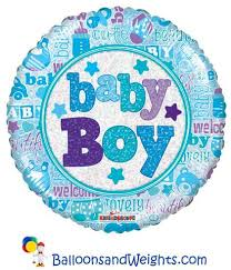 Baby boy holographic 18''