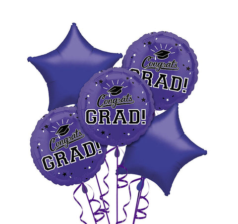 Congrats Grad Purple Bouquet 5pc
