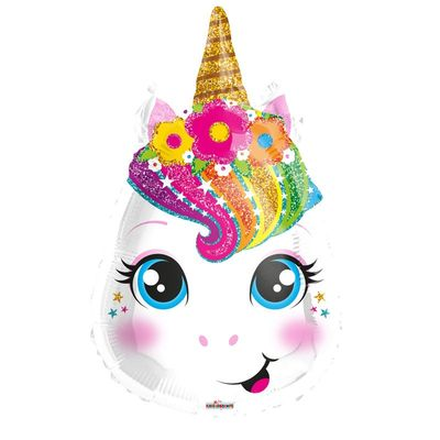 Unicorn Multiple Color Head 17'' Balloon