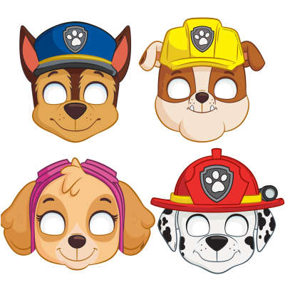 Paw Patrol Party Masks 8ct