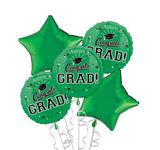 Congrats Grad Green Bouquet 5pc