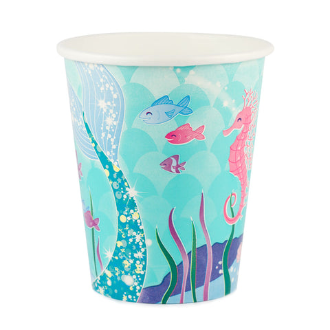Mermaid 9oz. Cups 8ct.