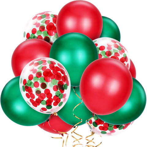 Christmas Confetti Balloon Bouquet 14pc.