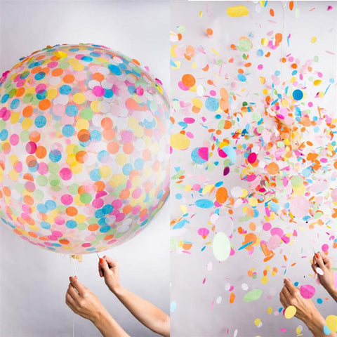 Color Rainbow 36'' Confetti Balloon