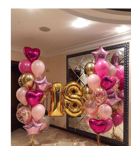 Pink & Gold Age Birthday Grand Bouquet