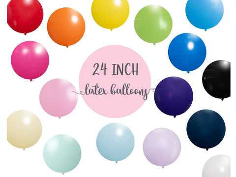"24"" Giant Round Latex Balloons 