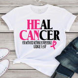 Heal Cancer Bella Canvas Shirts