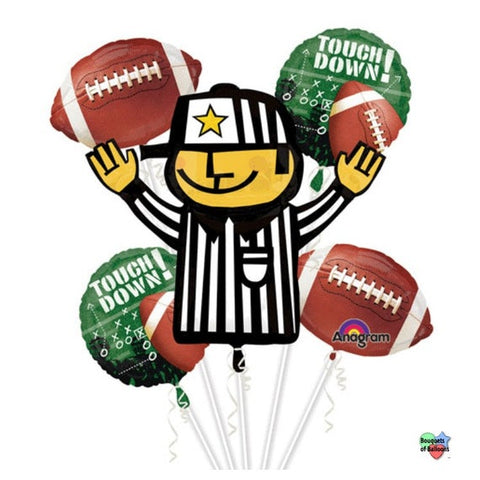 Referee & football bouquet 5pc.