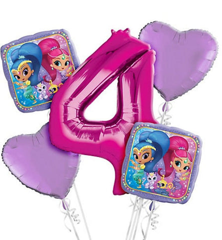 Shimmer & Shine Bouquet W/ Number