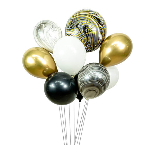 MIDNIGHT GLAM BALLOON CLUSTER