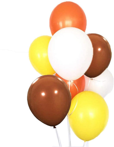 Orange Yellow Brown White Balloon 9pc