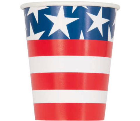 Stars & Stripes 9oz Cups