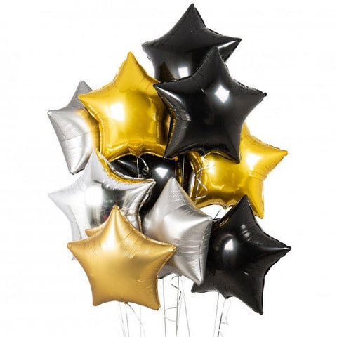 Mylar Star Bouquet Set 10pc