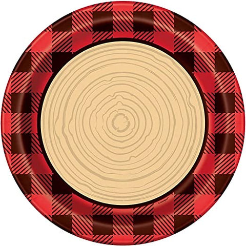 Lumber Jack Plaid Dinner Plates 8ct