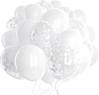 White latex with Silver Confetti Bouquet 20pc
