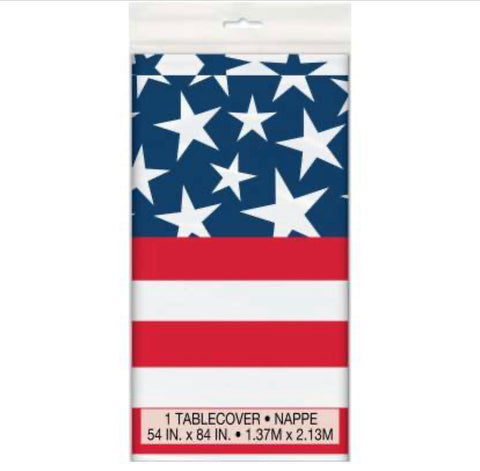 Stars & Stripes Tablecloths 54x84