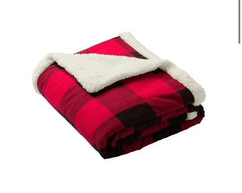Port Authority Christmas Super Soft Throw Blanket