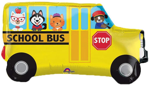 Adorable animal Back to school bus 30""