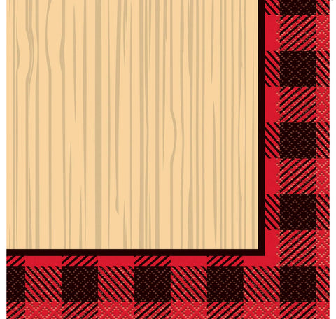 Buffalo Plaid Lumberjack Paper Luncheon Napkins, 6.5in, 16ct