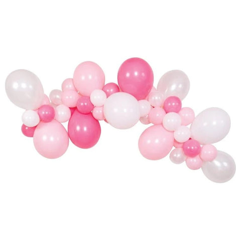 PINK & WHITE BALLOON GARLAND KIT - 6FT.