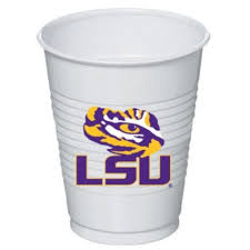 LSU Tigers Plastic Cups 8ct