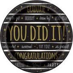 You did it Grad Large Lunch Plates 8ct.