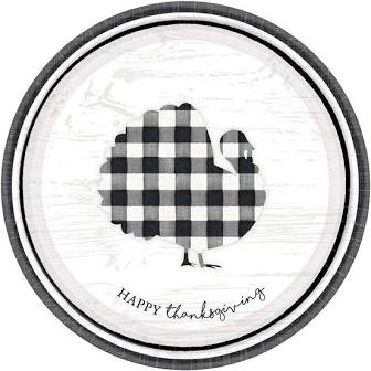 Happy Thanksgiving Gingham Turkey