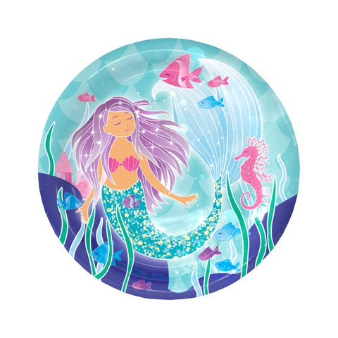 Mermaid Dinner Plates Large