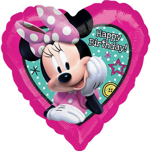 Minnie Mouse Birthday Heart 18''