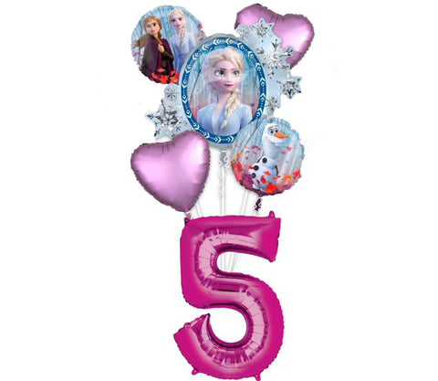 Frozen 2 Balloon Bouquet W/ Number