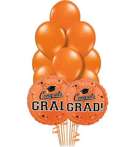 Orange Grad Bouquet 11pc