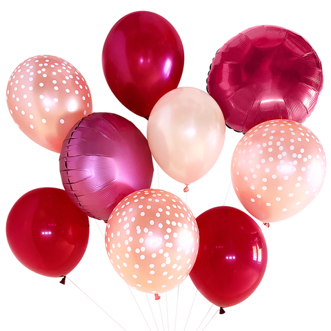 Burgundy & Blush Balloon Bouquet
