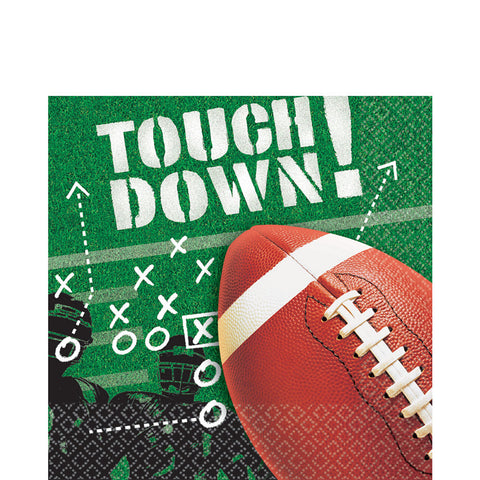 Football Frenzy Sports Lunch Napkins 100ct