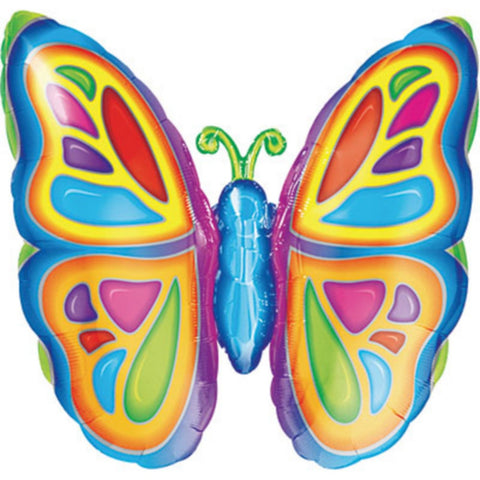 Bright Butterfly Balloon, 25in