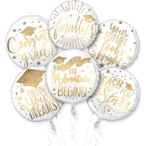 Grad Messages Foil Balloon Bouquet