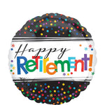 Retirement Dotted Balloon 18''