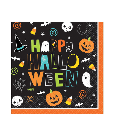 Big Party Pack Halloween Friends Lunch Napkins 125ct